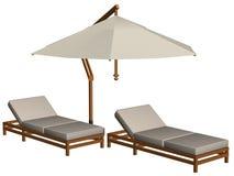 Pool furniture Royalty Free Stock Image