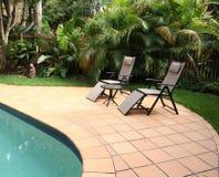 Pool furniture Stock Photo
