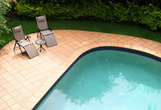 Pool furniture Royalty Free Stock Photography