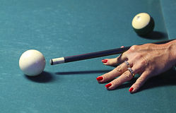 Pool game. Royalty Free Stock Photography