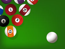 Pool game balls Royalty Free Stock Photo