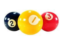 Pool game balls. Isolated on white Royalty Free Stock Photography