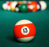 Pool game balls. Royalty Free Stock Image