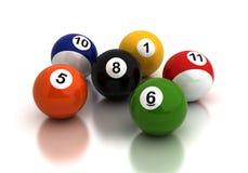 Pool Game Balls Royalty Free Stock Photos