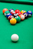 Pool game balls Royalty Free Stock Images