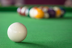 Pool Games. 15 games, pool balls on green table Royalty Free Stock Photo