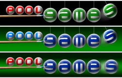 Pool games banners Stock Image