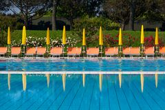 Pool and garden Royalty Free Stock Image
