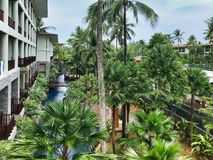Pool garden at hotel in Thailand royalty free stock photo