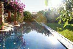 Pool in garden Stock Photos