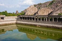 Pool at Gingee Fort. In Tamil Nadu, India Stock Photography