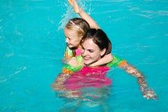 Pool girls Stock Image
