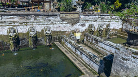 Pool at Goa Gajah ancient temple Stock Image