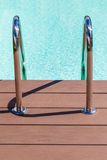 Pool grab bars ladder Royalty Free Stock Photo