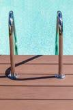 Pool grab bars ladder Royalty Free Stock Photo
