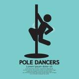 Pool-Grafische Dansers Stock Afbeelding