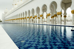 Pool in Grand Mosque Stock Photos