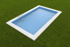 Pool on the grass Royalty Free Stock Photo