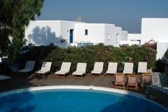 Pool greek hotel Royalty Free Stock Photography