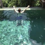 Pool Guy Backview Stockbild