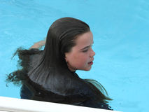 Pool Hair Royalty Free Stock Photos