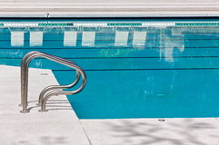 Pool Handles for Large Swimming Pool Royalty Free Stock Images
