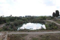 Pool, het Nationale Park van Ein Afek, Israël royalty-vrije stock fotografie