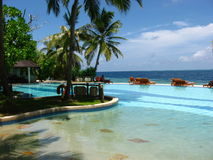 Pool in het paradijs. stock afbeelding