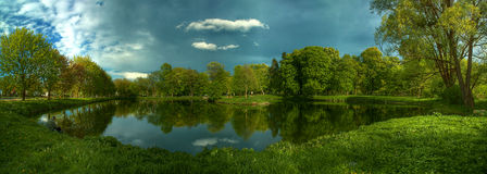 Pool in het park Royalty-vrije Stock Foto