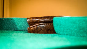 Pool hold from pool table Royalty Free Stock Images