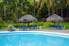 Pool at holiday resort. Stock Images