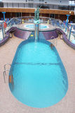 Pool and hot tub on cruise ship Stock Photos