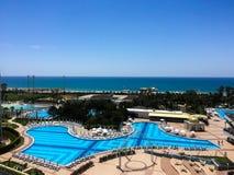 Pool hotel stock photo
