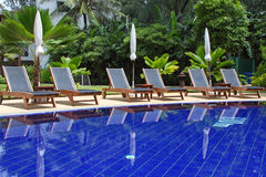 Pool in  hotel Royalty Free Stock Images
