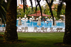 Pool in hotel Royalty Free Stock Photo