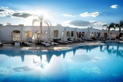 Pool in hotel Royalty-vrije Stock Foto's