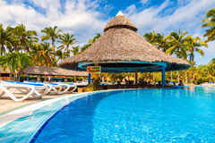 Pool at a hotel in the beach of Varadero, Cuba Stock Images