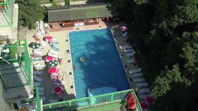 The pool at the hotel in Bulgaria. The pool at the hotel in Bulgaria stock video footage