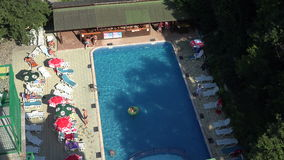 The pool at the hotel in Bulgaria. 4K. stock video