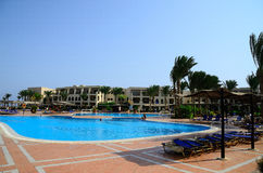 Pool at the hotel in Egypt holidays Royalty Free Stock Images