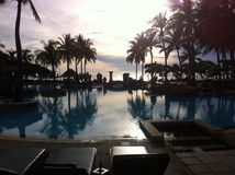 The pool. Pool in hotel,huahin Thailand Stock Photos