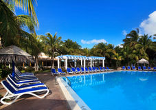 Pool of hotel Melia Cayo Guillermo. royalty free stock photo