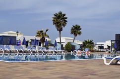 Spain, Canary Island, pool in hotel Stock Photography