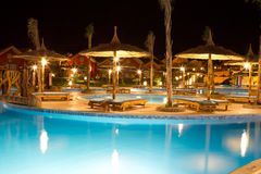 Pool at hotel or resort Royalty Free Stock Photography