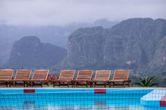 Pool at Hotel resort in Vinales, Cuba royalty free stock photos