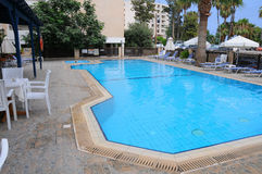 The pool in hotel. The simple pool in hotel Stock Photo