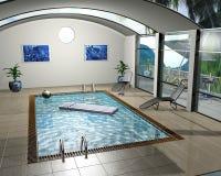 Pool house Royalty Free Stock Photos