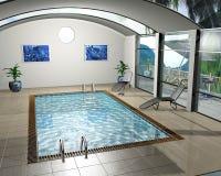 Pool house royalty free illustration