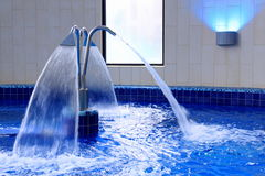 Spa. And swimming pool with thermal water and hydromassage royalty free stock images