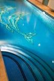 Pool with illumination Royalty Free Stock Image